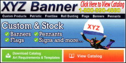 Custom & Stock Banners, Flags, Pennants, Signs and more